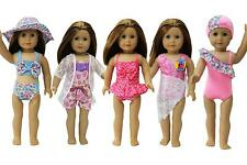 5 Sets Fashion Handmade Doll Clothes Swimwear Swimsuit for 18 inch Girl Dolls
