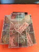 3 AROMATHERAPY SCENTED CANDLES WITH GLASS HOLDER NEW IN BOX ONE (1) BOX