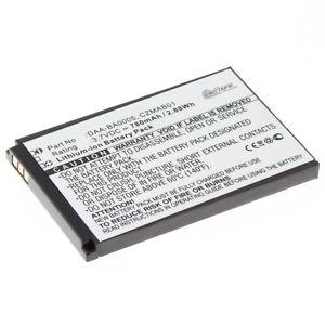 Akku Li-Ion für Creative Zen Micro 5GB  6GB Photo ersetzt DAA-BA0005 - 780mAh
