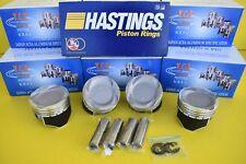 76mm YCP Vitara Pistons Coated Low Compression & Hastings Set Honda D16 TURBO