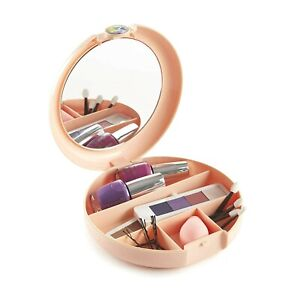 Caboodles Peach Cosmic Cosmetic Makeup Retro Compact Case