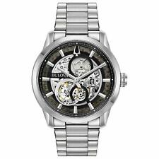 Bulova Men's Automatic Silver-Tone Band 43mm Watch 96A208