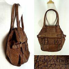 LIEBESKIND BERLIN Handbag Shoulder Bag Tote Brown Cow HIde Leather Germany