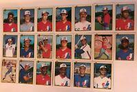 1990 MONTREAL EXPOS Bowman COMPLETE Baseball Team Set 20 Cards RAINES WALKER !