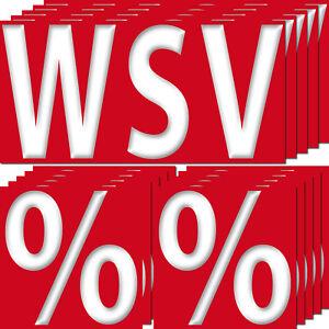 15 Aufkleber Set Sticker WSV 20cm + Prozent 10cm Winter Sale 4061963007983