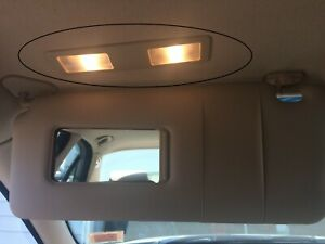 BMW 530I overhead lights by visors. PAIR Left & Right. Beige interior  2000 528