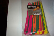 "100 pc Fluorescent 8"" Cable Wire Ties Assortment Electrical"