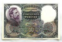 Spain-II Republica. Eduardo Rosales. Billete. 50 pesetas. 1931. EBC/XF