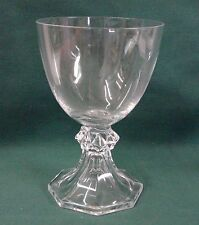 "Val St Lambert YALE (PLAIN) Water Goblet Tall Stem (5-1/4"") More Items Available"