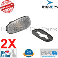 2X SIDE INDICATOR LAMPS CLEAR FOR OPEL VAUXHALL ASTRA G MK4 ZAFIRA A MK1 1713400