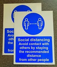 Pack of 2 Avoid contact with other people social distancing No Stated Distance