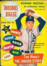 1952 Baseball Digest: Bobby Shantz Philadelphia Athletics/Jackie Jansen/Necciai