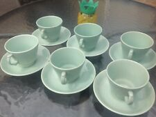 6x woods ware beryl  tea cups and saucers