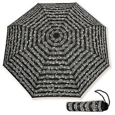 NEW! SHEET MUSIC NOTES Vienna World Mini Compact BLACK UMBRELLA Musician Gift