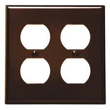 25 Pk Leviton Brown Plastic 2 Gang 4 Electric Outlet Wall Plate Cover 001-85016