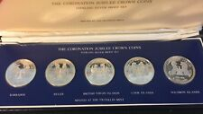 1978 Coronation Jubilee Crown Coins, Sterling Proof Set