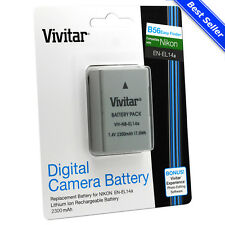 Vivitar EN-EL14a+ Battery for Nikon DF D5600 D5500 D5300 D5200 D3400 D3300 D3200