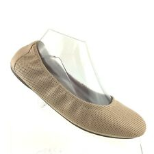 Clarks Artisan Ballet Flats Grayson Erica Beige Leather Womens Shoe SIZE 8.5 M