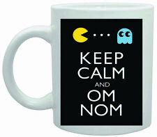 12463 Keep calm and om nom ceramic mug