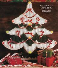Snowy Christmas Tree w/Lights plastic canvas PATTERN INSTRUCTIONS