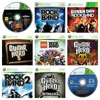 Guitar Hero Rock Band Games Xbox 360