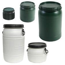 Weithals-Fass in Grün o. Wei�Ÿ Fässer von 25 L bis 70 L mit Deckel Nässe-Schutz