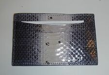 Judith Leiber Snake SKIN Purple Leather Credit Card Business Holder Wallet NWT