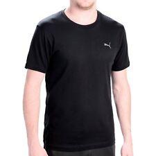 Puma Men's T Shirt Medium Crew Neck Black Cotton Lounge Nightshirt Basic Comfort