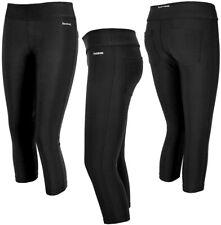 Reebok Capri Damen 3/4 Sport Training Hose Kompression Laufhose Leggings schwarz