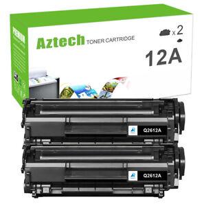 2 PACK Q2612A 12A Toner Cartridge Black for HP LaserJet 1018 1020 1022 1010 Ink