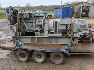 GENERATOR POWERED BY RUNNING ROLLS ROYCE SF65 ENGINE
