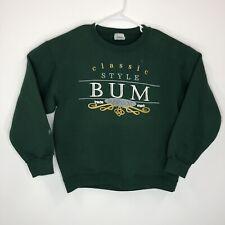 Vtg Bum Equipment Mens Medium Green Pullover Sweatshirt Hr
