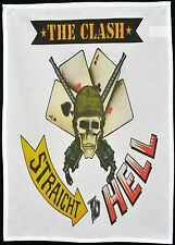 THE CLASH TEA TOWEL STRAIGHT TO HELL JOE STRUMMER PUNK 1977 WALL HANGING POSTER