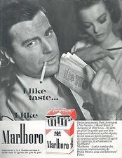 ▬► PUBLICITE ADVERTISING AD CIGARETTE TABAC I LIKE TASTE I LIKE MARLBORO (b)