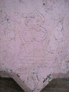 Antique Keystone Decorative Art Stone Architectural Salvage Hardware Element 698