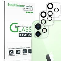 Apple iPhone 12 Tempered Glass Screen Protector for Back Camera Lens (3 Pack)