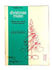 David Carr Glover CHRISTMAS MUSIC Primer Level Piano Book~Graded Piano Lessons