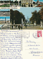 1980 THE GARDENS OF TUILERIES PARIS FRANCE COLOUR POSTCARD