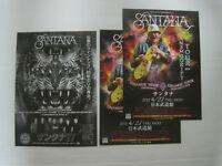 3 lots Santana 2017 JAPAN Tour Flyer Mini poster LATIN ROCK FREE SHIPPING