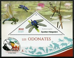 Madagascar Insects Stamps 2019 MNH Dragonflies Dragonfly 1v M/S IV