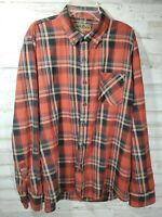 North River Outfitters Mens Button Down Shirt Large Long Sleeve Red Plaid