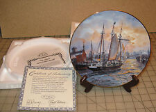 """""""Advent Of The Golden Bough"""" Tall Sailing Ship Collector Plate with Coa, Vickery"""