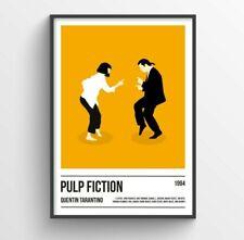 Pulp Fiction Poster Art Print, Quentin Tarantino Poster Print, Movie Print, Film