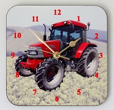 Square Wall Clock – Tractor - Agricultural - Size 19cm by 19cm