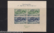 Poland - 1938 Philatelic Exibition - IMPERF - Mtd Mint - SEE NOTES