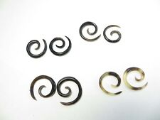 wholesale bulk For Pierced Ears)-Us Seller Water Buffalo Horn Spirals 10 pairs