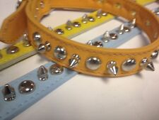 """1"""" X 24"""" Leather Stud & Spike Dog Collars made in the USA"""