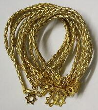 X 10 Etoile De David Or Bracelet Kabbale Mauvais Oeil Judaica Israël Magen