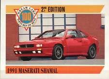 1991 Maserati Shamal, Italy, Dream Cars Trading Card, Automobile -- Not Postcard