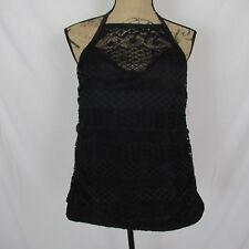 Island Escape Halter Tankini Underwire High Neck Lace Black size 18W New $44.98